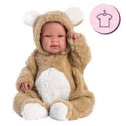 Clothes for Llorens dolls 44 cm - Brown bear pyjamas