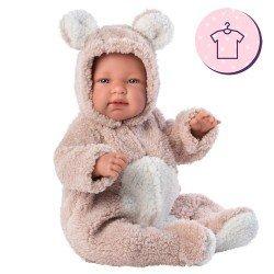 Clothes for Llorens dolls 44 cm - Pink bear pyjamas