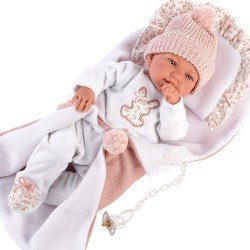 Llorens doll 44 cm - Newborn Crying Tina with pillow and changing mat
