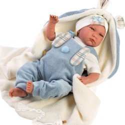 Llorens doll 42 cm - Newborn Crying Lalo with ears blanket