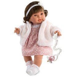 Llorens doll 42 cm - Pippa with pink coat