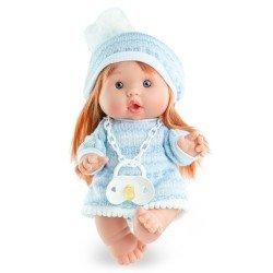 Marina & Pau doll 26 cm - Nenotes Party Edition - Blue wool