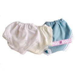 Set of 3 panties for Mariquita Perez 50 cm doll