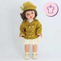 Outfit for Mariquita Pérez doll 50 cm - Ocher jacket outfit