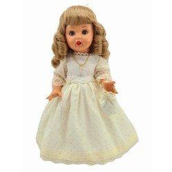 Mariquita Pérez doll 50 cm - Communion beige with polka dots