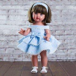 Mariquita Pérez Doll 50 cm - With blue dress with flounces