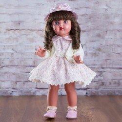 Mariquita Pérez Doll 50 cm - With beige dress with flowers