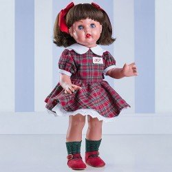 Mariquita Pérez Doll 50 cm - With red and green Scottish set