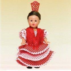 Mini Mariquita Pérez doll 21 cm - With sevillian dress