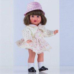 Mini Mariquita Pérez doll 21 cm - With beige dress with flowers