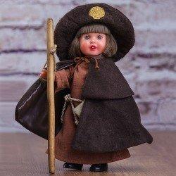 Mini Mariquita Pérez doll 21 cm - With pilgrimage dress