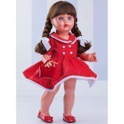 Muñeca Mariquita Pérez 50 cm - Con vestido rojo de topos blancos