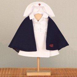 Outfit for Mariquita Pérez doll 50 cm - Nurse set