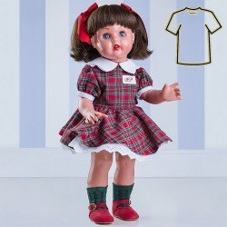 Outfit for Mariquita Pérez doll 50 cm - Red and green Scottish set