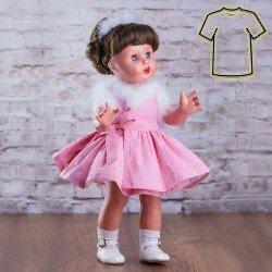 Outfit for Mariquita Pérez doll 50 cm - Pink dress set