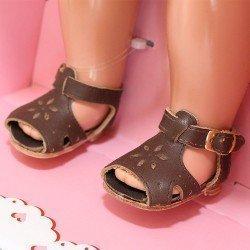 Complements for Mariquita Pérez doll 50 cm - Brown sandals