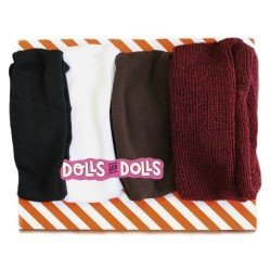 Outfit for Mariquita Pérez doll 50 cm - Set tights with intense colors