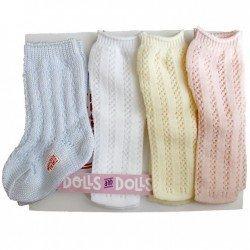 Outfit for Mariquita Pérez doll 50 cm - Set socks with soft colors
