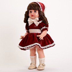 Mariquita Pérez Doll 50 cm - Limited Series - Velvet bourdeos outfit