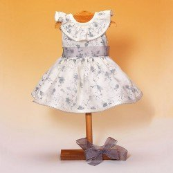 Outfit for Mariquita Pérez doll 50 cm - Grey printed dress