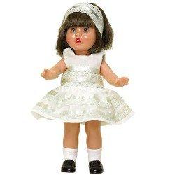 Mini Mariquita Pérez doll 21 cm - With beige party dress
