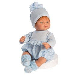 Así doll 36 cm - Guille with light-blue vichy romper with chest
