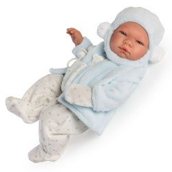 Así doll 43 cm - Pablo star printed romper with light-blue jacket