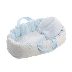 Así doll Complements - Light-blue cachemir two-sided carrycot