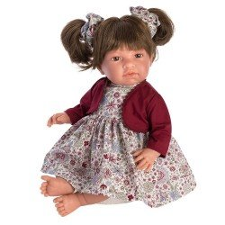 Así doll 46 cm - Noor with maroon flowered dress and jacket