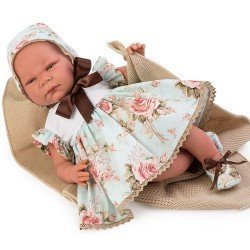 Así doll 46 cm - Inés, limited series Reborn type doll