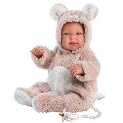 Llorens doll 44 cm - Crying Beba teddy bear