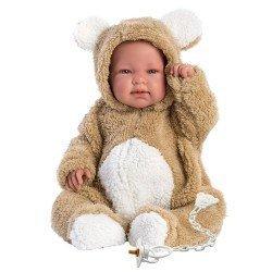 Llorens doll 44 cm - Crying Bebo teddy bear