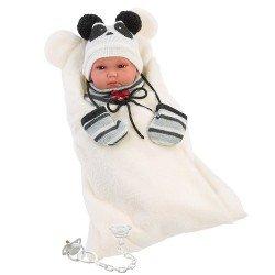 Llorens doll 35 cm - Bimba panda with sleeping bag