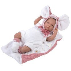 Llorens doll 42 cm - Crying Lala with little mouse blanket