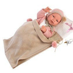 Llorens doll 43 cm - Tina with sleeping bag-blanket