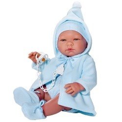 Así doll 43 cm - Pablo with light blue duffle coat