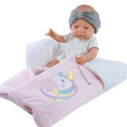 Paola Reina doll 45 cm - Bebita with unicorn sleeping bag