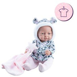 Paola Reina doll Outfit 45 cm - Bebitos - Panda outfit and star doudou