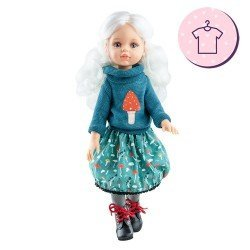 Outfit for Paola Reina doll 32 cm - Las Amigas - Cécile blue winter outfit