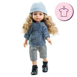 Outfit for Paola Reina doll 32 cm - Las Amigas - Carla gray winter outfit