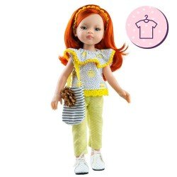 Outfit for Paola Reina doll 32 cm - Las Amigas - Liu kittens outfit and bag