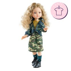 Outfit for Paola Reina doll 32 cm - Las Amigas - Manica military print outfit