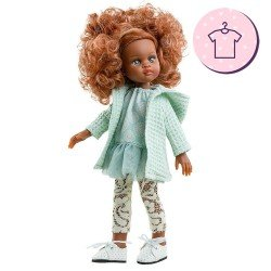 Outfit for Paola Reina doll 32 cm - Las Amigas - Nora green outfit