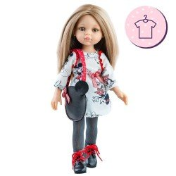 "Outfit for Paola Reina doll 32 cm - Las Amigas - Carla ""Mickey"" dress and bag"
