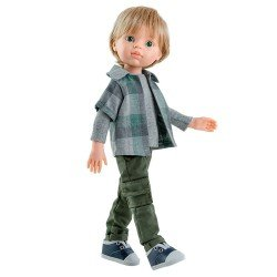 Paola Reina doll 32 cm - Las Amigas - Luis with squared shirt