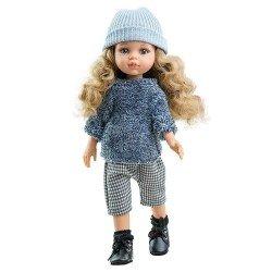 Paola Reina doll 32 cm - Las Amigas - Carla with gray winter set