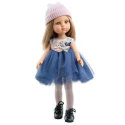 Paola Reina doll 32 cm - Las Amigas - Carla with blue tulle dress