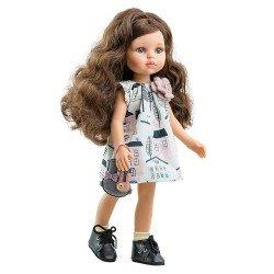 Paola Reina doll 32 cm - Las Amigas - Carol with printed dress and bunny bag