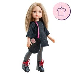 Outfit for Paola Reina doll 32 cm - Las Amigas - Carla lead gray and pink outfit