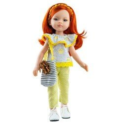 Paola Reina doll 32 cm - Las Amigas - Liu with kittens outfit and bag